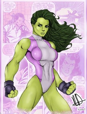 she hulk makes some fists