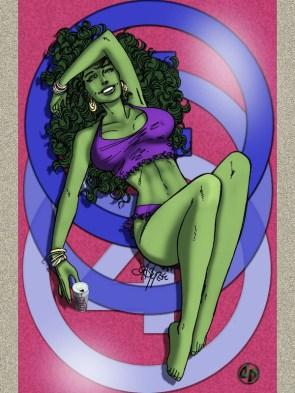 she hulk on a logo