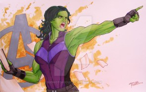 she hulk points at the point