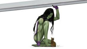 she hulk supports a kitten