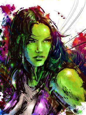 she hulk watercolor