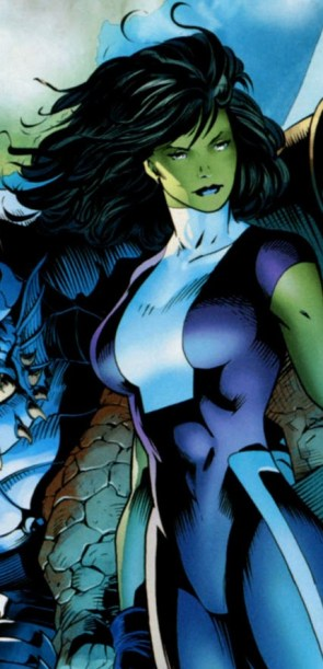 she hulk with the thing