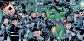 she hulk working out with Nick Fury RLDC