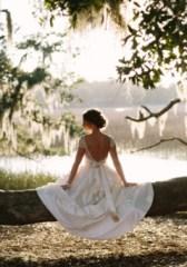 white dress on a dress branch