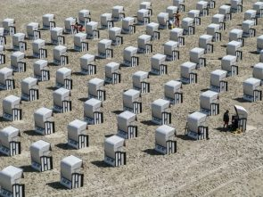 Beach chairs in Sellin, Rügen, Germany