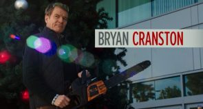 Bryan Cranston with chainsaw