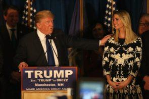 Donald Trump caressing his daughter