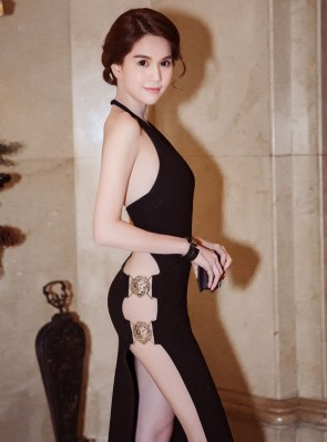 sideless dress