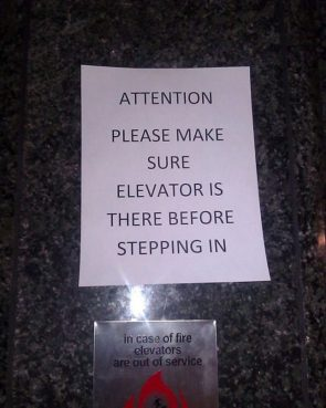 Elevator Attention Notice