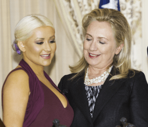 Hillary Clinton is Jealous of Christina's Breasts