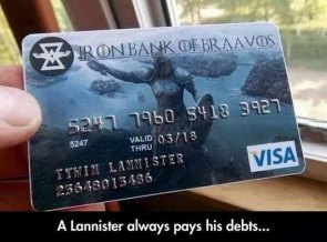 Iron Bank of Braavos credit card