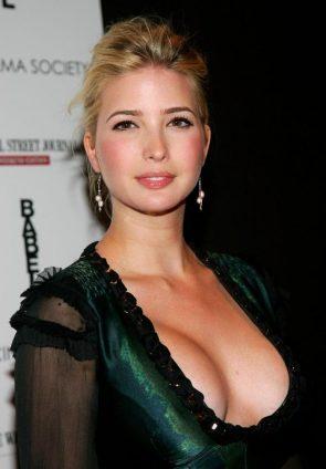 Ivanka Trump in a low cut revealing dress