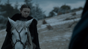 Lyanna Mormont on a horse