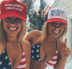 MAGA girls in the snow