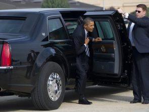 Obama has a big black door