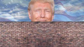 The Trump behind his wall