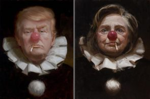 Two clowns in the same circus