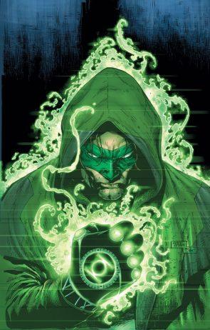 green lantern in a hood