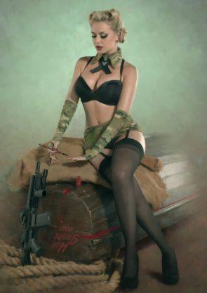 retro gunner girl