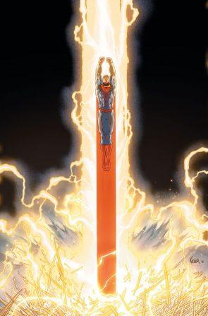 superman getting some lightning (50 variant)