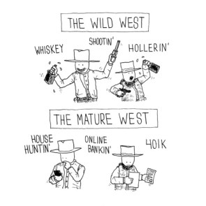 the wild west vs the mature west