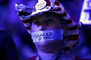 Bernie Supporter at the DNC