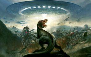 Dinosaurs vs UFO