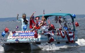 Fourth Of July Boat