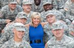 Gretchen Carlson with the armed forces