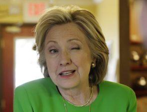 Hillary Clinton Winked