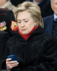 Hillary Clinton checking her email
