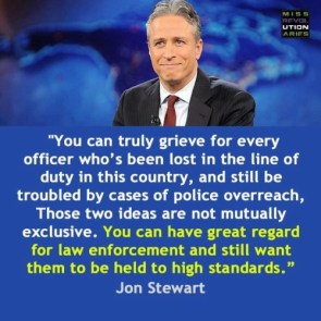 JStew has a quote about hating police