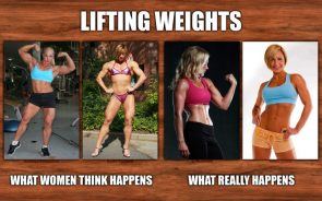 Lifting weights for women