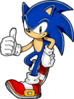 Neo Sonic give you a thumbs up