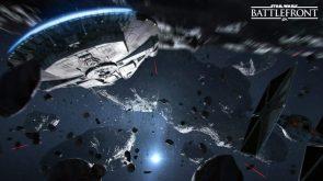 Star Wars Battlefont in space
