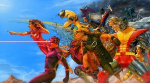 The x-men running into action