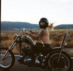 Topless Biker