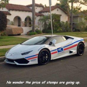USPS sports car