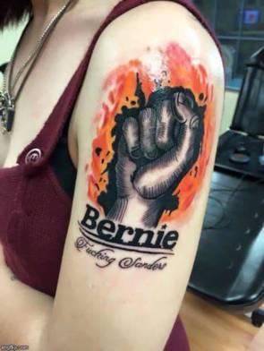 bernie fucking sanders tattoo