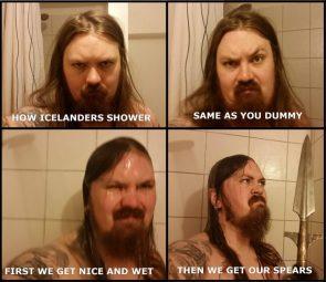 how icelanders shower