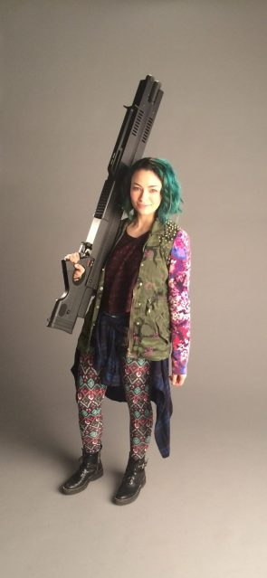 Small Woman, Big Gun
