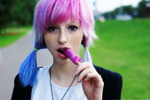 purple popsicle girl