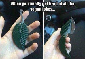 tired of the vegan jokes