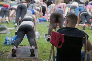 yoga can be a spectator sport