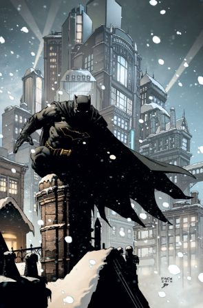 Batman on a chimney