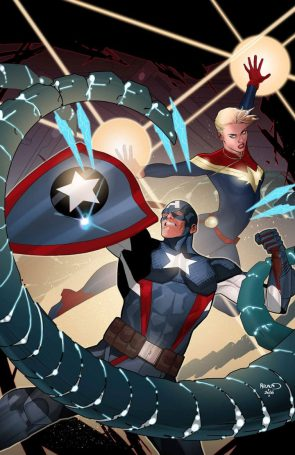 Captain Marvel and Captain America