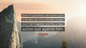 Even if God Exists