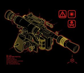 Han Solo's DL 44 Blaster Pistol