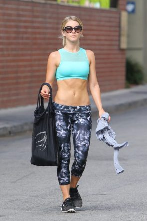 Julianne Hough after a workout