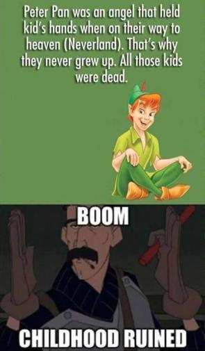 Peter Pan was an angel